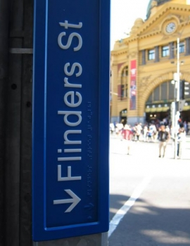 Melbourne CBD Street Signs